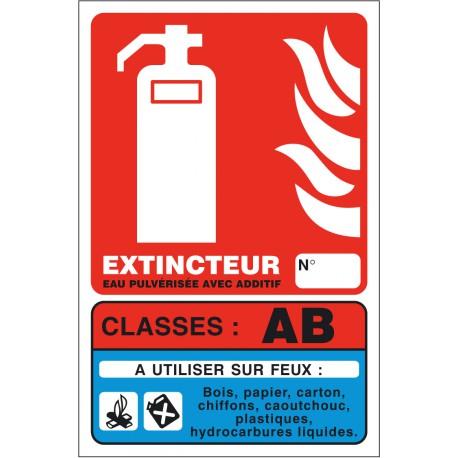 Panneaux Extincteur Classe AB 125X190